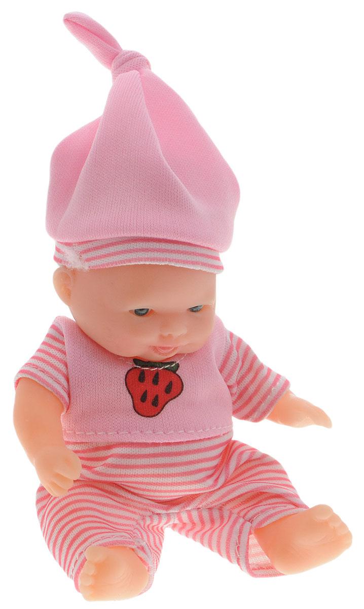 Win Goal Пупс цвет одежды розовый35017Пупс Win Goal непременно приведет в восторг вашу дочурку. Игрушка выполнена из прочного пластика и имеет пять точек артикуляции. Очаровательная малышка одета в удобный розовый комбинезон, а на голове у нее - розовая шапочка. Игры с куклами способствуют эмоциональному развитию, помогают формировать воображение и художественный вкус, а также разовьют в вашей малышке чувство ответственности и заботы. Великолепное качество исполнения делают эту куколку чудесным подарком к любому празднику.