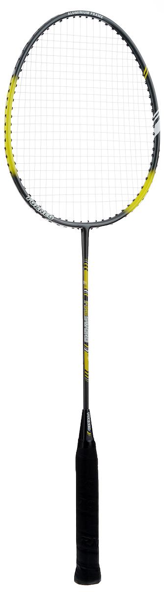 Ракетка для бадминтона Torneo, длина 67 смAL-4100Ракетка для бадминтона Torneo, выполненная из стали и алюминия, станет отличным вариантом для легкой игры на природе. Ручка изготовлена из легкого дерева. Вес ракетки: 100 г.
