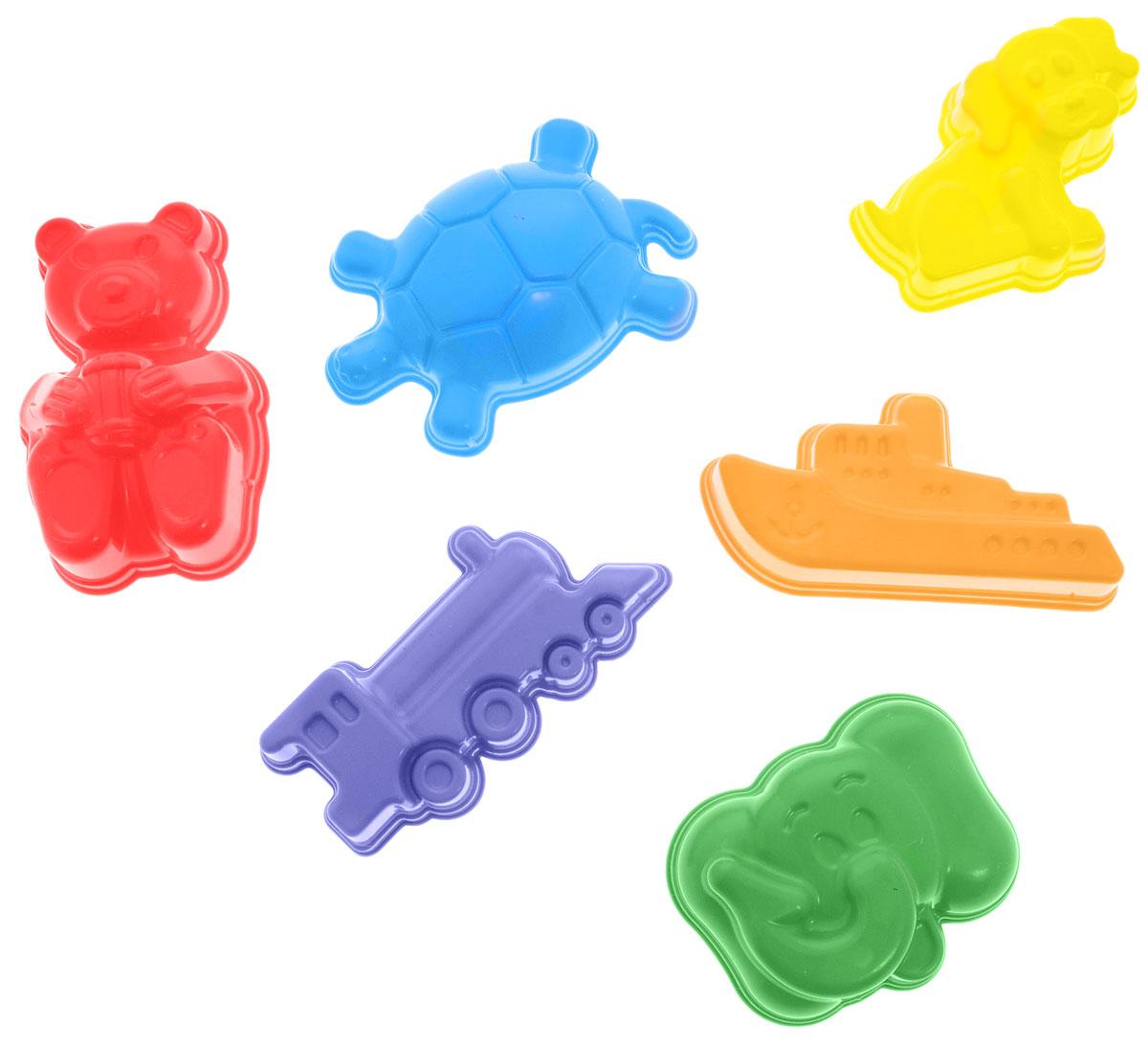 Zebratoys Набор формочек для песочницы 6 шт15-0003Какая песочница без формочек? Набор формочек Zebratoys с высокой степенью прорисовки и необычными формами станет полноценным дополнением к любой игре в песке. А качественные красители не позволят формочкам выгореть на солнце. Набор включает в себя шесть формочек в виде корабля, слоника, медвежонка, паровозика, собачки и черепашки. Уважаемые клиенты! Обращаем ваше внимание на ассортимент в цвете товара. Поставка осуществляется в зависимости от наличия на складе.