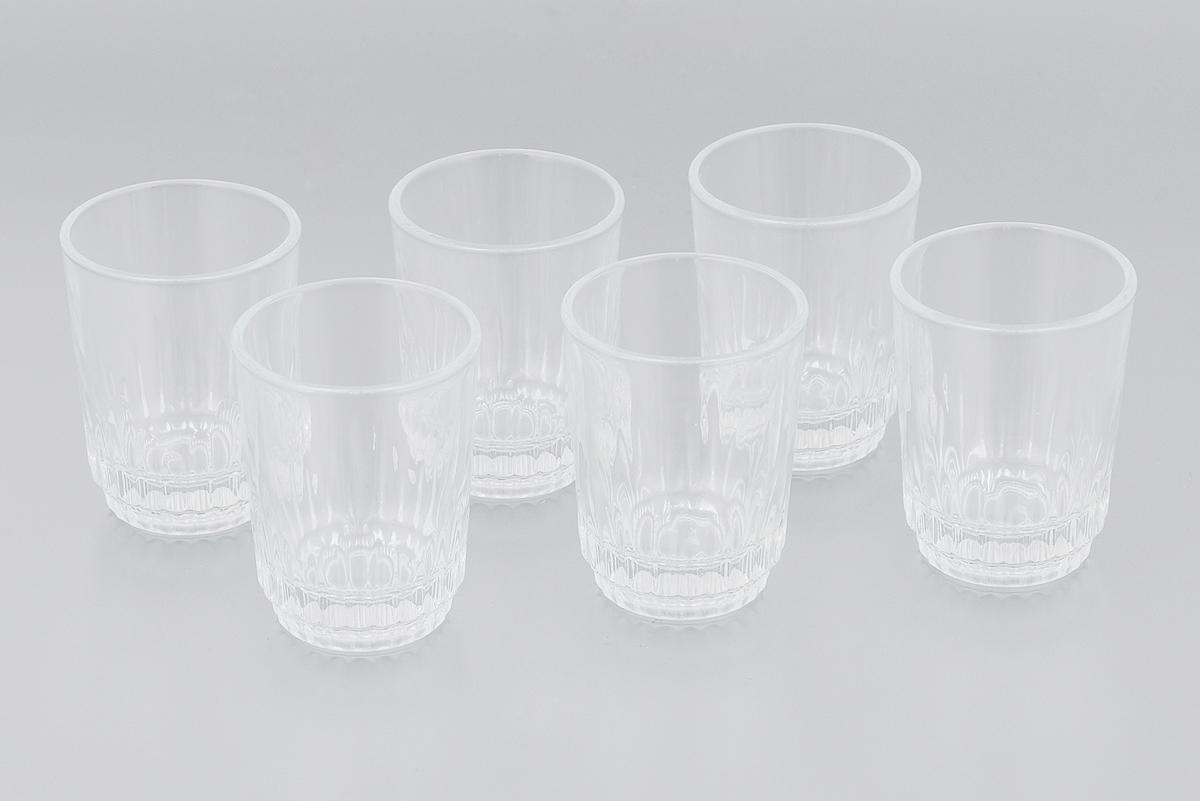 Набор стопок Pasabahce Glass4You, 60 мл, 6 шт52264BBНабор Pasabahce Glass4You состоит из шести стопок, выполненных из прочного натрий-кальций-силикатного стекла. Изделия имеют утолщенное дно и рельефную поверхность. Набор предназначен для подачи водки. Стопки сочетают в себе элегантный дизайн и функциональность. Благодаря такому набору пить напитки будет еще вкуснее. Набор стопок Pasabahce Glass4You прекрасно оформит праздничный стол и создаст приятную атмосферу за ужином. Такой набор также станет хорошим подарком к любому случаю. Можно мыть в посудомоечной машине. Диаметр стопки (по верхнему краю): 4,5 см. Высота стопки: 6,5 см.