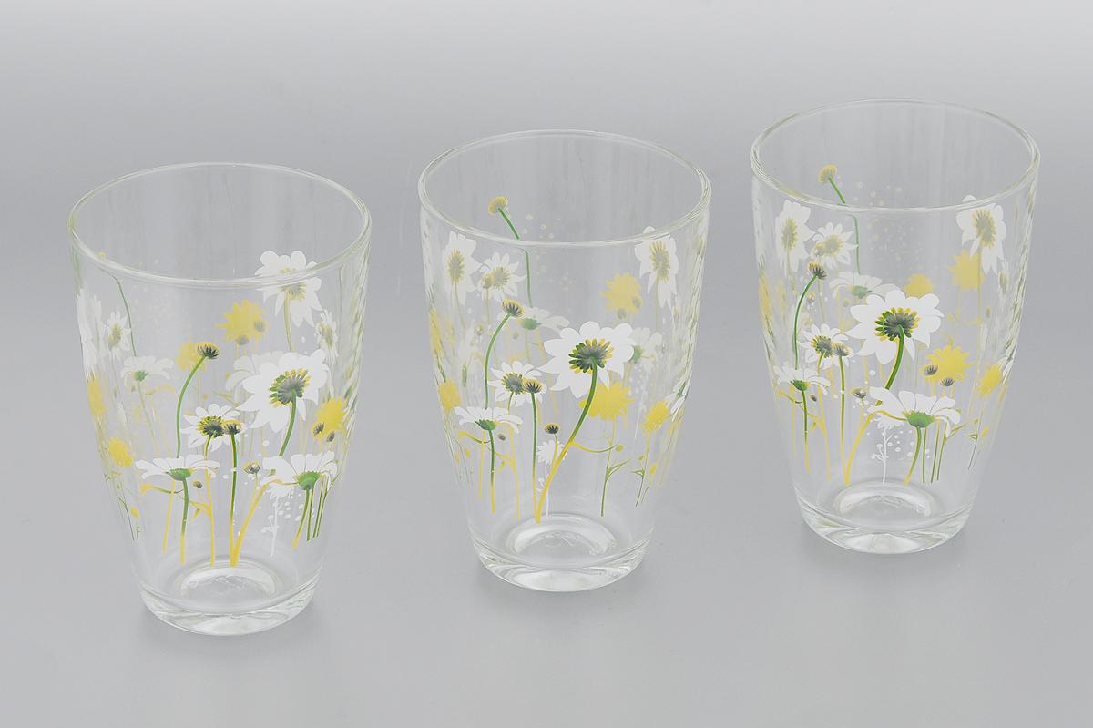 Набор стаканов Pasabahce Камилла, 360 мл, 3 шт52555B/D22Набор Pasabahce Камилла состоит из трех стаканов, выполненных из высококачественного стекла и оформленных ярким цветочным рисунком. Изделия предназначены для подачи воды и других безалкогольных напитков. Они отличаются особой легкостью и прочностью, излучают приятный блеск и издают мелодичный хрустальный звон. Изделия устойчивы к перепадам температур. Стаканы станут идеальным украшением праздничного стола и отличным подарком к любому празднику. Можно мыть в посудомоечной машине. Диаметр стакана (по верхнему краю): 8 см. Высота: 12 см.