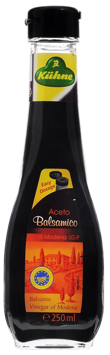 Kuhne Aceto Balsamico di Modena уксус бальзамический, 250 мл0560158Kuhne Aceto Balsamico di Modena - итальянский бальзамический уксус. Это продукт натурального брожения, который подойдет для приготовления самых различных блюд итальянской кухни (супы, салаты, десерты, морепродукты, а также паста и ризотто).
