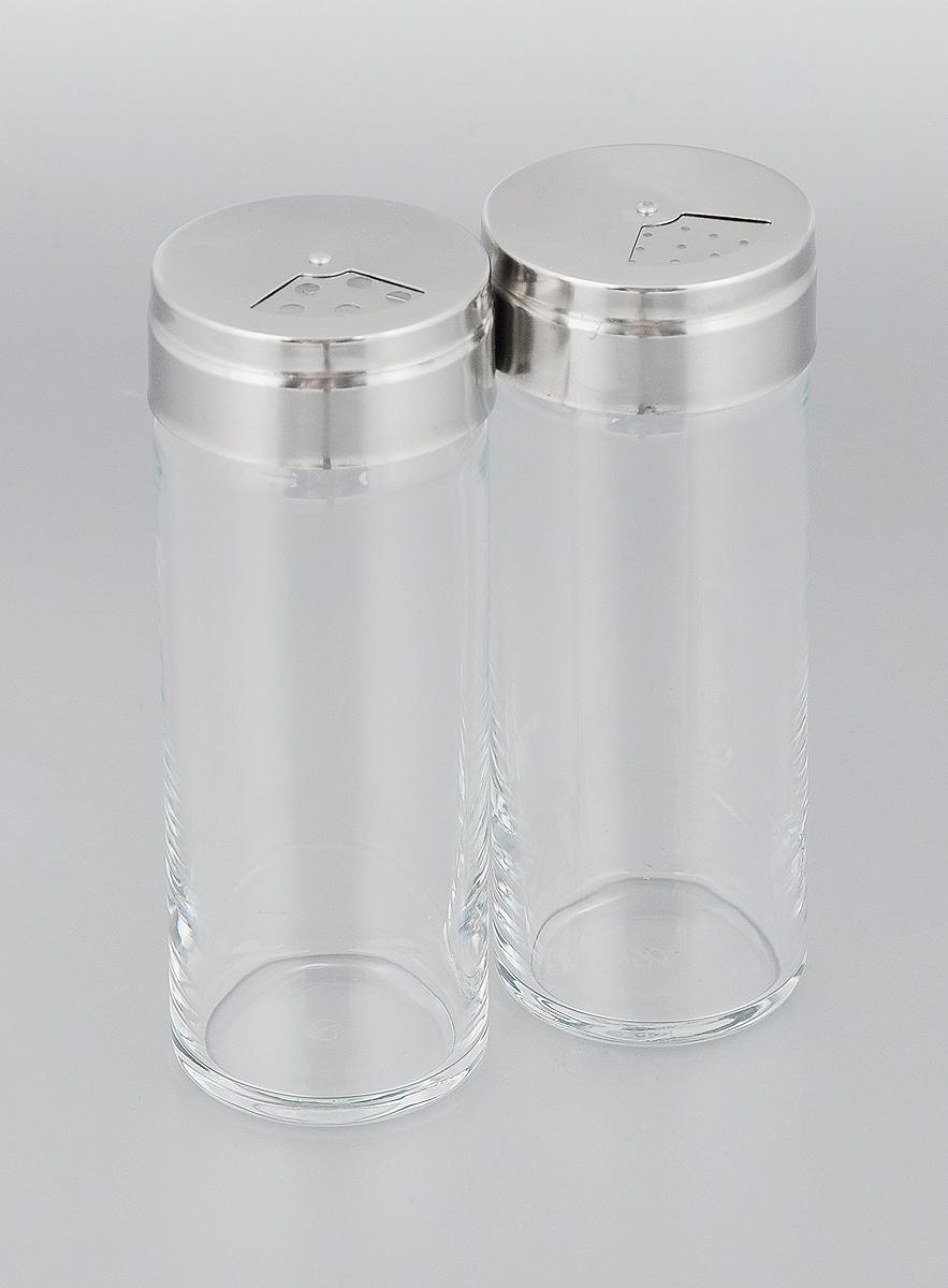 Набор для специй Pasabahce Basic, 250 мл, 2 шт43890BНабор Pasabahce Basic состоит из двух емкостей для специй, изготовленных из натрий-кальций-силикатного стекла, что позволяет видеть количество содержимого в емкости. Изделия оснащены откручивающимися крышками с отверстиями из металла и пластика. Стильная форма этих емкостей привлекает внимание и будет уместна на любой кухне. Можно мыть в посудомоечной машине. Размер емкости: 5,5 х 5,5 х 14,5 см.