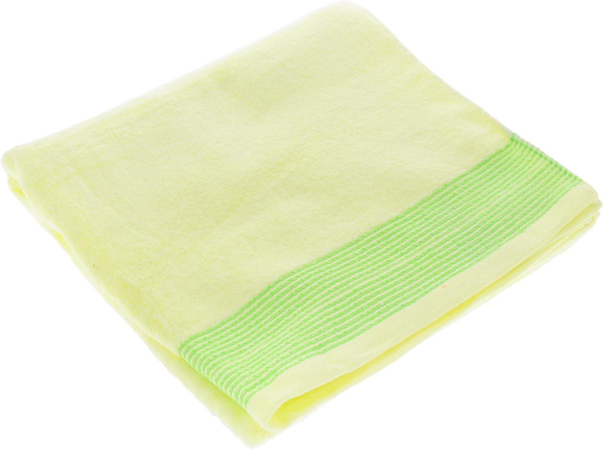Полотенце Soavita Селсо, цвет: светло-желтый, 70 х 140 см61280Полотенце Soavita Селсо выполнено из 100% хлопка. Изделие отлично впитывает влагу, быстро сохнет, сохраняет яркость цвета и не теряет форму даже после многократных стирок. Полотенце очень практично и неприхотливо в уходе. Оно создаст прекрасное настроение и украсит интерьер в ванной комнате.