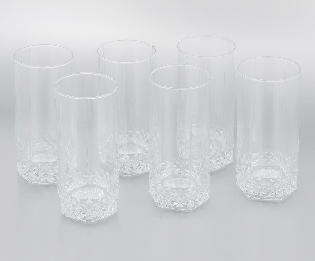 Набор стаканов Pasabahce Valse, 290 мл, 6 шт42942GRBНабор Luminarc Pasabahce Valse состоит из 6 стаканов, выполненных из прочного натрий-кальций- силикатного стекла, которое выдерживает нагрев до 70°С. Изделия предназначены для подачи воды и других безалкогольных напитков. Они отличаются особой легкостью и прочностью, излучают приятный блеск и издают мелодичный хрустальный звон. Стаканы станут идеальным украшением праздничного стола и отличным подарком к любому празднику. Можно мыть в посудомоечной машине и использовать в микроволновой печи. Диаметр стакана (по верхнему краю): 6 см. Высота: 13,5 см.