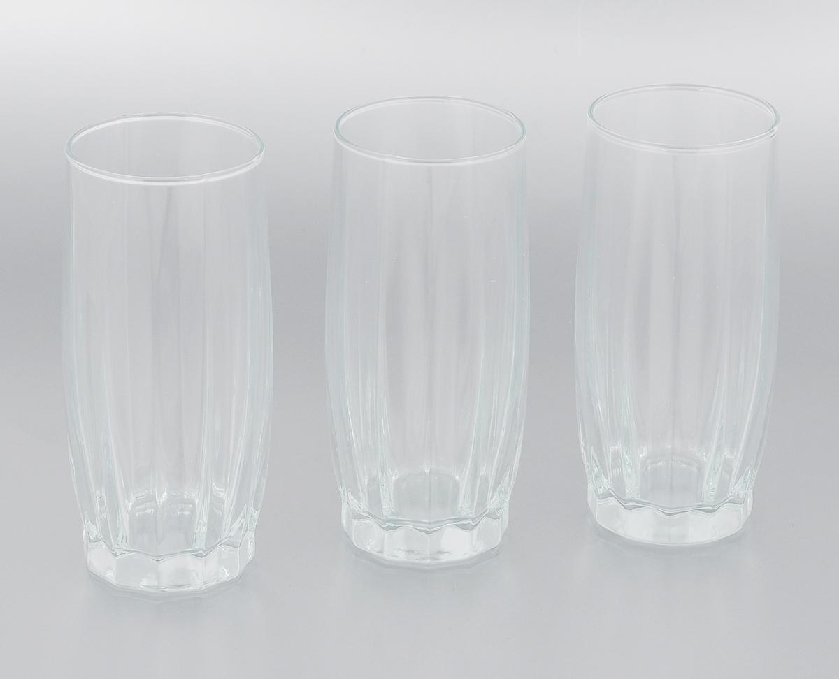 Набор стаканов Pasabahce Dance, 320 мл, 3 шт42868B/Набор Pasabahce Dance состоит из трех стаканов, выполненных из натрий-кальций-силикатного стекла. Высокие стаканы с узким горлышком предназначены для подачи воды, сока, компота и других напитков. Стаканы сочетают в себе элегантный дизайн и функциональность. Набор стаканов Pasabahce Dance идеально подойдет для сервировки стола и станет отличным подарком к любому празднику. Можно использовать в морозильной камере и микроволновой печи. Можно мыть в посудомоечной машине. Диаметр стакана (по верхнему краю): 6 см. Высота стакана: 14 см.