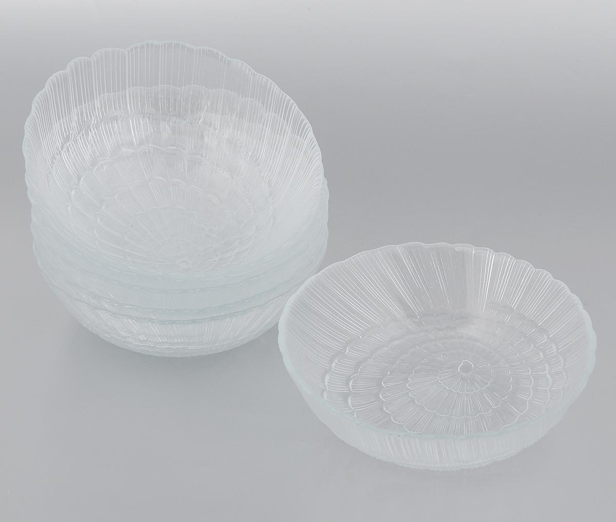 Набор салатников Pasabahce Atlantis, диаметр 15,5 см, 6 шт10250BНабор Pasabahce Atlantis, выполненный из высококачественного натрий-кальций-силикатного стекла, состоит из шести салатников. Внешние стенки изделий декорированы в виде ракушки. Такие салатники прекрасно подойдут для сервировки стола и станут достойным оформлением для ваших любимых блюд. Изящный дизайн, высокое качество и функциональность набора Pasabahce Atlantis позволят ему стать достойным дополнением к вашему кухонному инвентарю. Можно мыть в посудомоечной машине, использовать в микроволновой печи, холодильнике и морозильной камере. Диаметр салатника: 15,5 см.