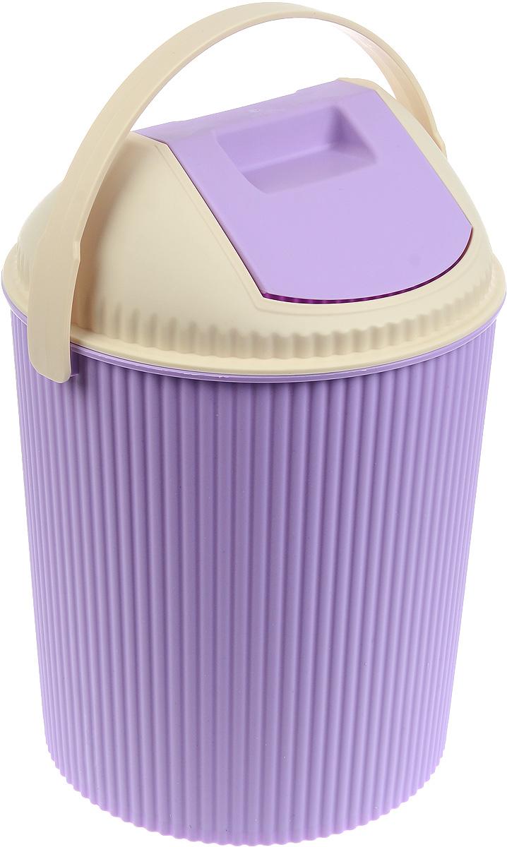 Ведро для мусора Изумруд, с крышкой, цвет: светло-сиреневый, молочный, 20 л2004Ведро для мусора Изумруд изготовлено из прочного пластика. Ведро оснащено закрывающейся крышкой с подвижной верней частью. Надавив на верхнюю стенку крышки, вы положите мусор, не снимая крышку полностью. Такое ведро прекрасно подойдет для различных хозяйственных нужд: для уборки или хранения мусора. Также у ведра имеется ручка, благодаря которой ведро удобно переносить. Диаметр ведра (по верхнему краю): 30 см. Высота (без учета крышки): 33 см. Высота (с учетом крышки): 44 см.