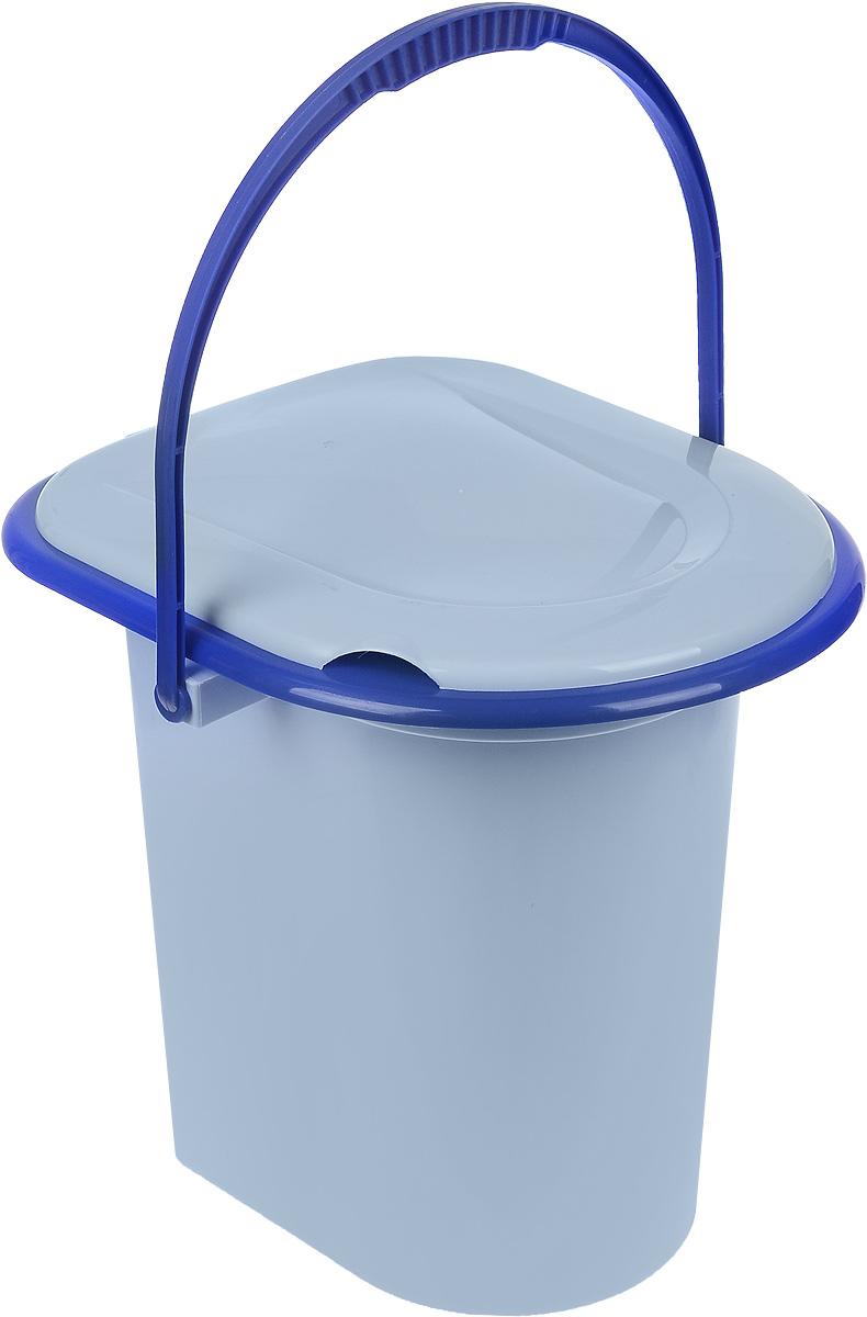 Ведро-туалет Альтернатива, цвет: голубой, синий, 17 л. М1320М1320Ведро-туалет Альтернатива, выполненное из пластика, предназначено для использования на даче или загородном доме, где нет центральной канализации. Имеется съемное сидение. Оно удобное и прочное. Для удобства слива на дне имеется выемка под руку. Изделие оснащено ручкой для переноски. Размер (по верхнему краю): 28 х 34 см. Высота (без учета сидения и крышки): 37 см. Размер сидения: 33 х 39 см. Объем: 17 л.