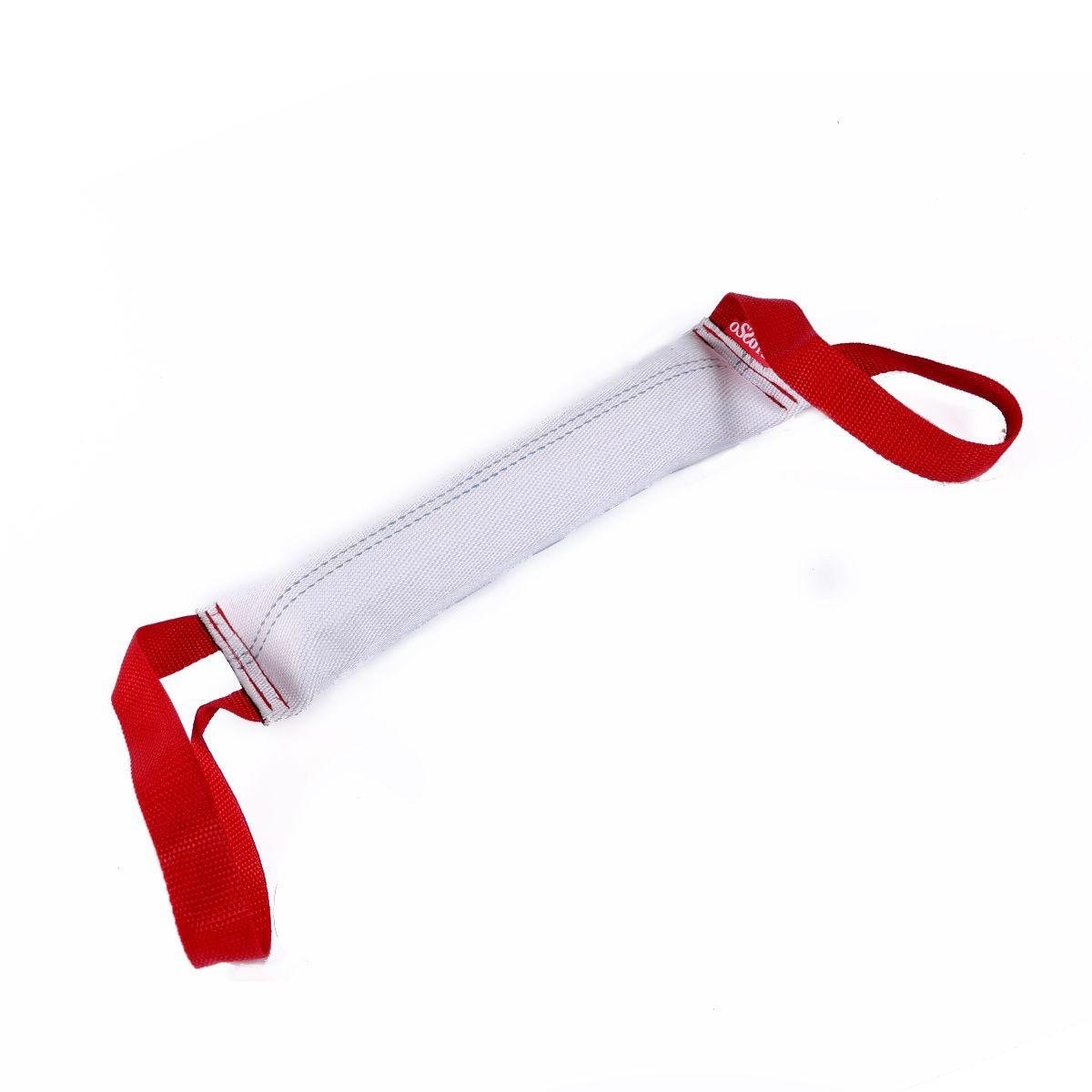 Игрушка для собак OSSO Fashion Кусалка, с двумя ручками, длина 40 смИк-1005Кусалка для собак с двумя ручками OSSO Fashion Предназначена для игр и развития спортивных навыков собаки, в том числе для игр, развивающих хватку. Может использоваться в качестве апортировочного предмета. Изготовлена из пожарного шланга, прочная. Диаметр шланга 65мм