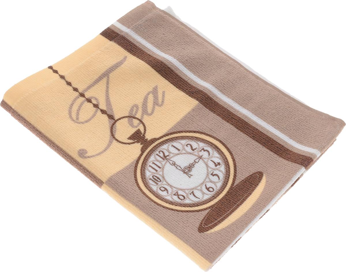 Полотенце кухонное Soavita Чай-Кофе, 38 х 50 см77123Кухонное полотенце Soavita Чай-Кофе, выполненное из высококачественной микрофибры (80% полиэстер, 20% полиамид), оформлено оригинальным рисунком. Изделие предназначено для использования на кухне и в столовой. Такое полотенце станет отличным вариантом для практичной и современной хозяйки.