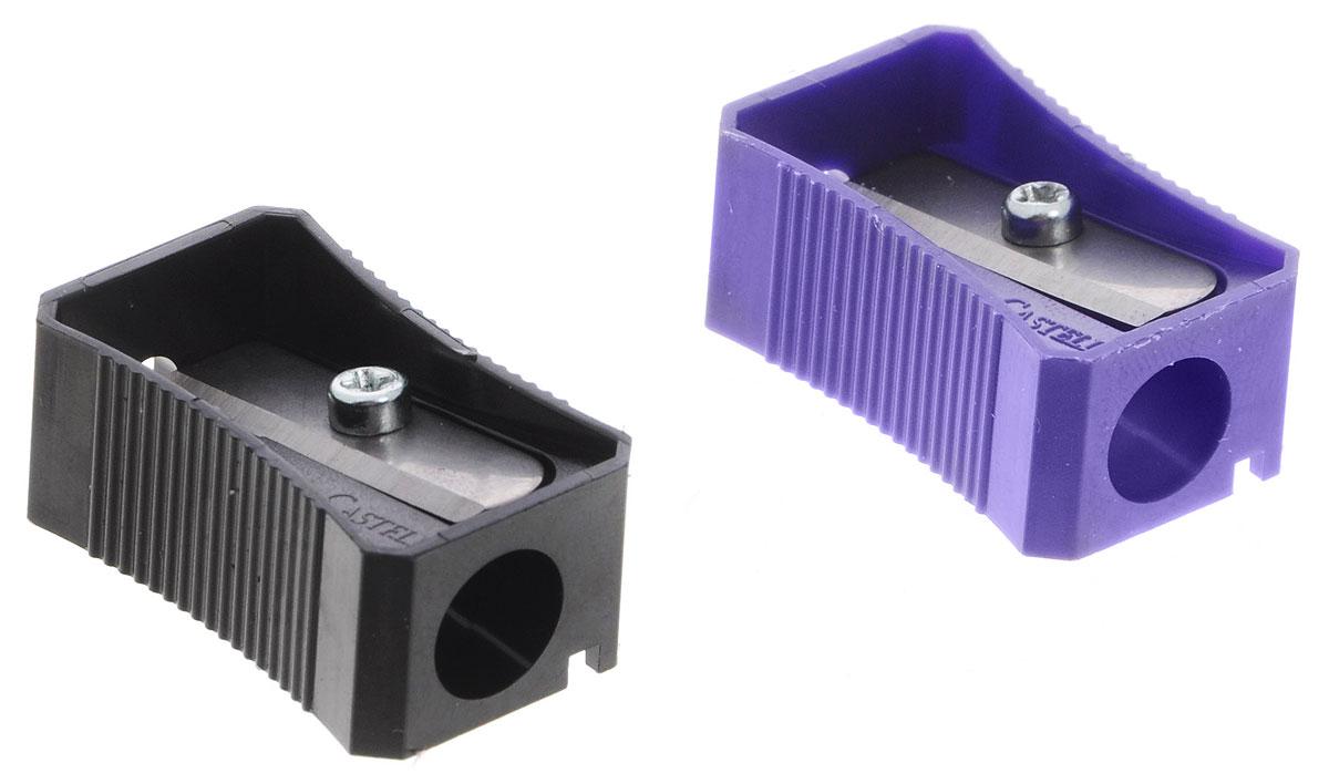 Faber-Castell Точилка цвет черный фиолетовый 2 шт263221_фиолетовый/черныйТочилка Faber-Castell предназначена для затачивания классических простых и цветных карандашей. В наборе две точилки из пластика черного и фиолетового цветов с рифленой областью захвата. Острые лезвия обеспечивают высококачественную и точную заточку деревянных карандашей.