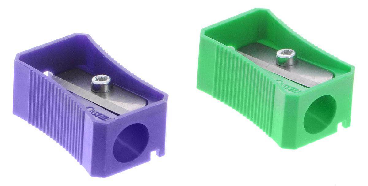 Faber-Castell Точилка цвет зеленый фиолетовый 2 шт263221_зеленый/фиолетовыйТочилка Faber-Castell предназначена для затачивания классических простых и цветных карандашей. В наборе две точилки из пластика зеленого и фиолетового цветов с рифленой областью захвата. Острые лезвия обеспечивают высококачественную и точную заточку деревянных карандашей.