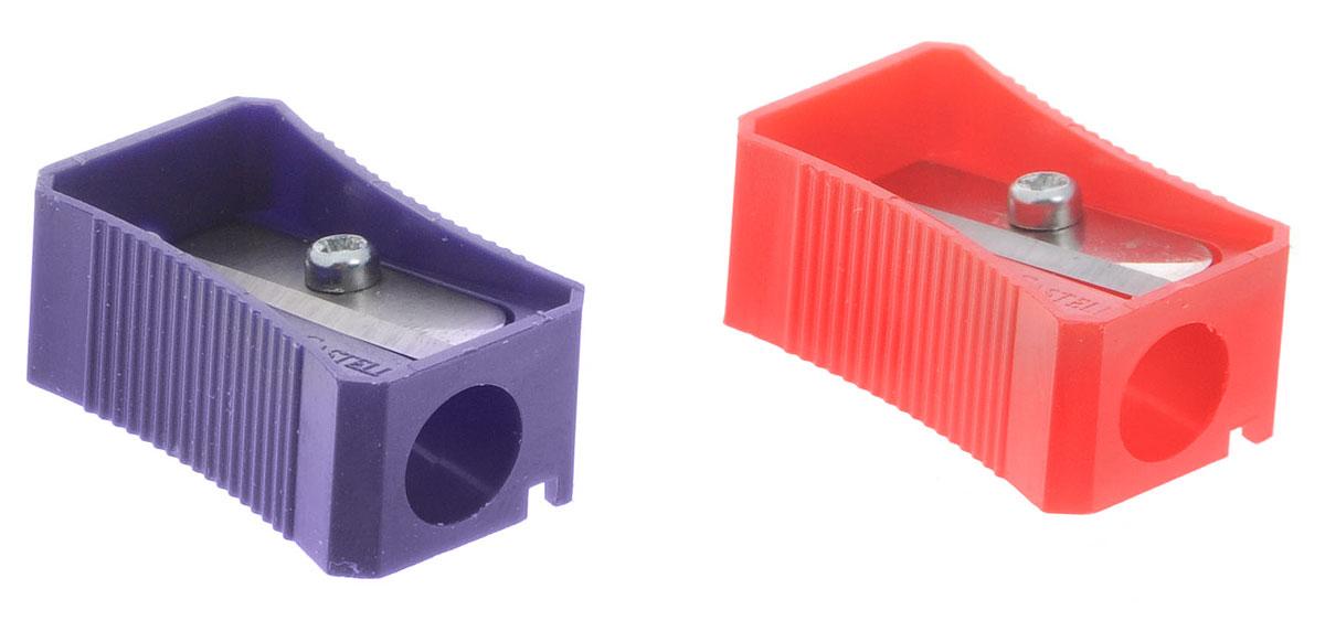 Faber-Castell Точилка цвет красный фиолетовый 2 шт263221_фиолетовый/красныйТочилка Faber-Castell предназначена для затачивания классических простых и цветных карандашей. В наборе две точилки из пластика красного и фиолетового цветов с рифленой областью захвата. Острые лезвия обеспечивают высококачественную и точную заточку деревянных карандашей.