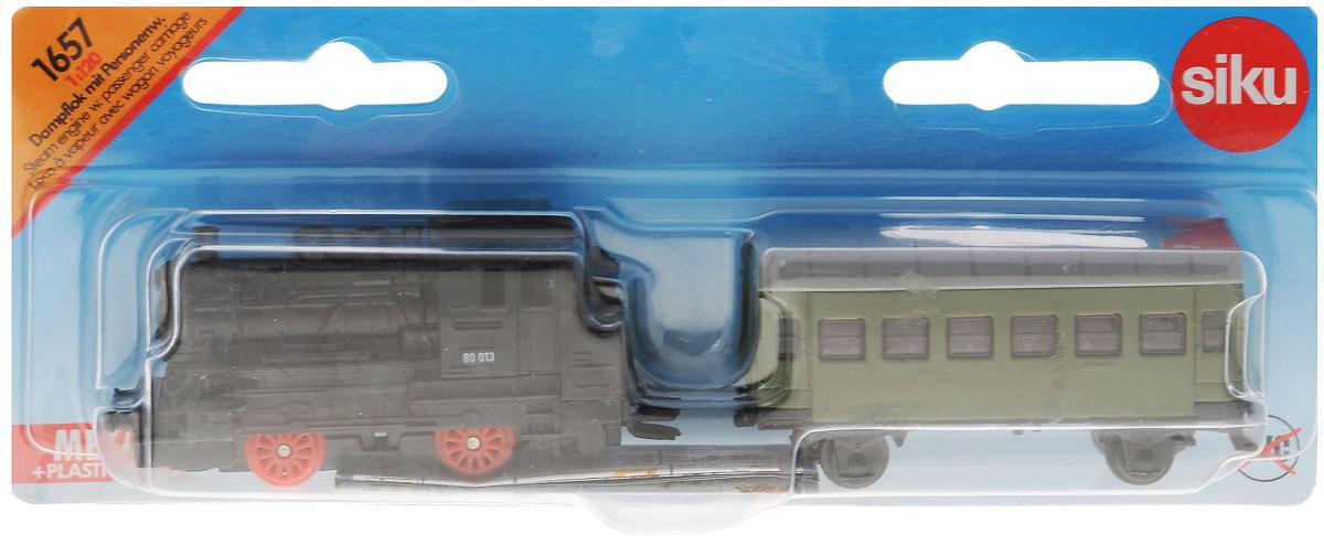 Siku Локомотив с вагоном 16571657Коллекционная модель локомотива с вагоном Siku понравится любому малышу. Игрушка выполнена из металла с пластиковыми элементами и копирует реальный локомотив с вагоном в масштабе 1:120. Высокая детализация и проработка мелких деталей выгодно отличает модели Siku от аналогов, и делает каждую модель достойным дополнением коллекции, как ребенка, так и увлеченного коллекционера-взрослого. Игрушка создана с хорошей детализацией всех составных частей. Начиная с трехлетнего возраста, многим детям становится интересна техника во всем многообразии существующих видов и моделей. Как же обойти стороной такой вид наземного транспорта, как железнодорожный? Коллекционная модель локомотива с вагоном поможет ребенку расширить свою коллекцию. Порадуйте его таким замечательным подарком!