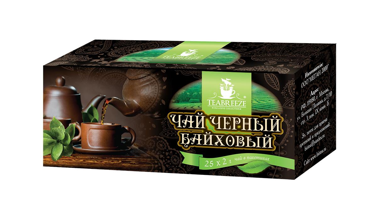Teabreeze черный байховый чай в пакетиках, 25 шт