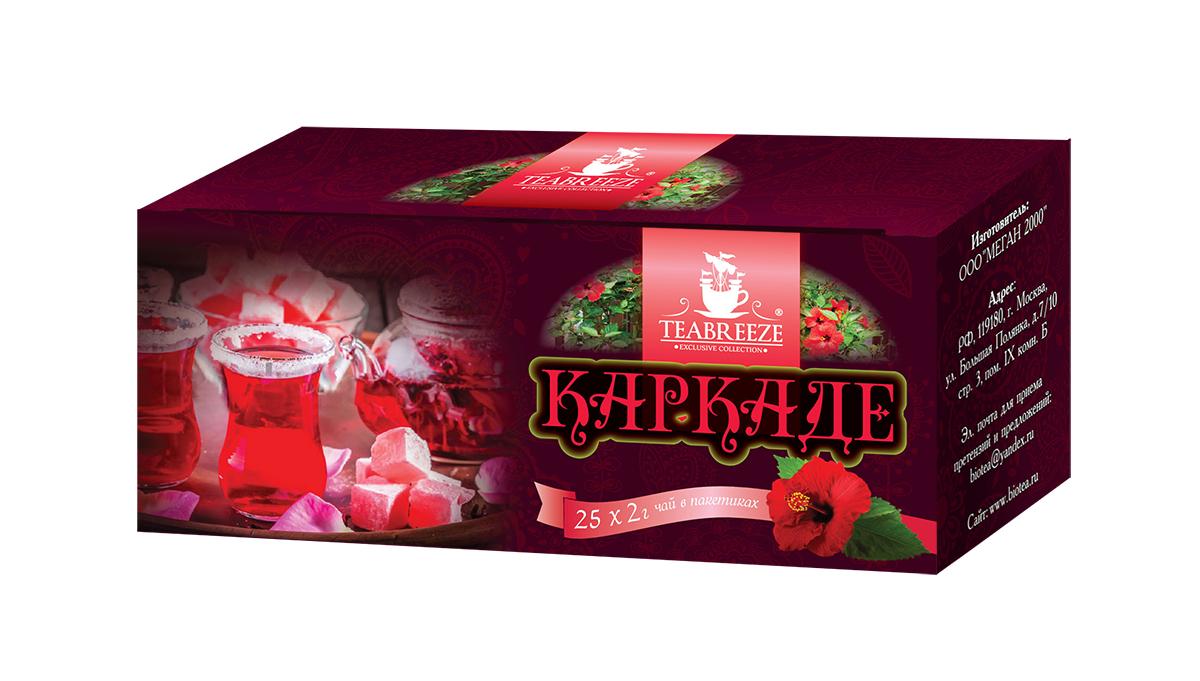 Teabreeze чайный напиток каркаде в пакетиках, 25 шт