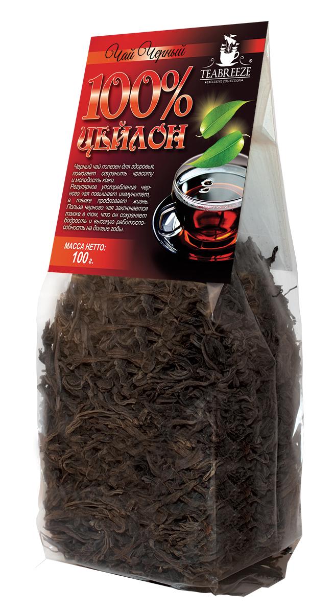 Teabreeze Цейлон крупнолистовой черный байховый чай, 100 гTB 1402-100Цейлонский чай Teabreeze, пожалуй, в наибольшей степени соответствует представлению западного человека о настоящем черном чае: это настой красно-коричневого, почти черного цвета, очень крепкий и ароматный. Чай, состоящий из длинных, тонких листьев, обладает фруктовым ароматом. Этот чай хорошо пить с молоком, и он отлично дополняет сладкий завтрак или дневную еду.