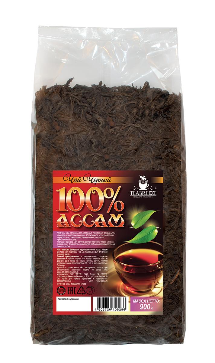 Teabreeze Ассам крупнолистовой черный байховый чай, 900 гTB 1507-900Ассам легко определить по специфическому, пряному, немного цветочному аромату с необычными для черного чая медовыми нотками. Может сочетается с молоком, сахаром и лимоном, но для более полного удовольствия от ассамовского послевкусия лучше этого избежать. Для лучшего ощущения послевкусия, после каждого глотка воздух надо выдыхать наполовину через рот, а наполовину через нос. Наградой за это будет легкий солодовый привкус с почти ментоловым свежим оттенком.