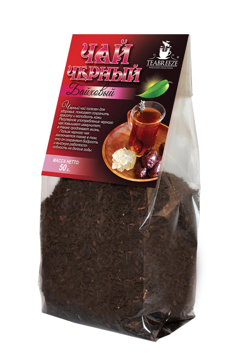 Teabreeze крупнолистовой черный байховый чай, 50 гTB 1701-50Teabreeze Байховый - чай из крупных ломанных листьев. Настой отличается красно- оранжевым цветом. Рекомендуется настаивать до 5 минут и употреблять небольшими глотками с кусочками колотого сахара (сахарные головы) или с традиционными восточными сладостями. Часто в стакан кладут кусочек имбиря или корицы.