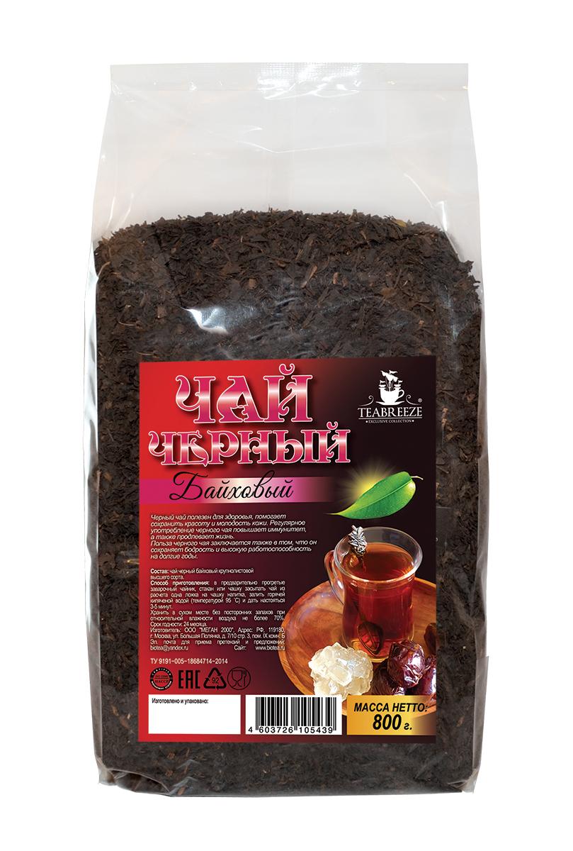 Teabreeze крупнолистовой черный байховый чай, 800 гTB 1706-800Teabreeze Байховый - среднелистовой чай из ломаного листа. Настой отличается красно-оранжевым цветом. Рекомендуется настаивать до 5 минут и употреблять небольшими глотками с кусочками колотого сахара (сахарные головы) или с традиционными восточными сладостями. Часто в стакан кладут кусочек имбиря или корицы.