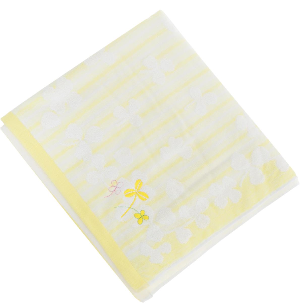 Полотенце Soavita Desy, цвет: желтый, 70 х 140 см65425Полотенце Soavita Desy выполнено из 100% хлопка. Изделие отлично впитывает влагу, быстро сохнет, сохраняет яркость цвета и не теряет форму даже после многократных стирок. Полотенце очень практично и неприхотливо в уходе. Оно создаст прекрасное настроение и украсит интерьер в ванной комнате.