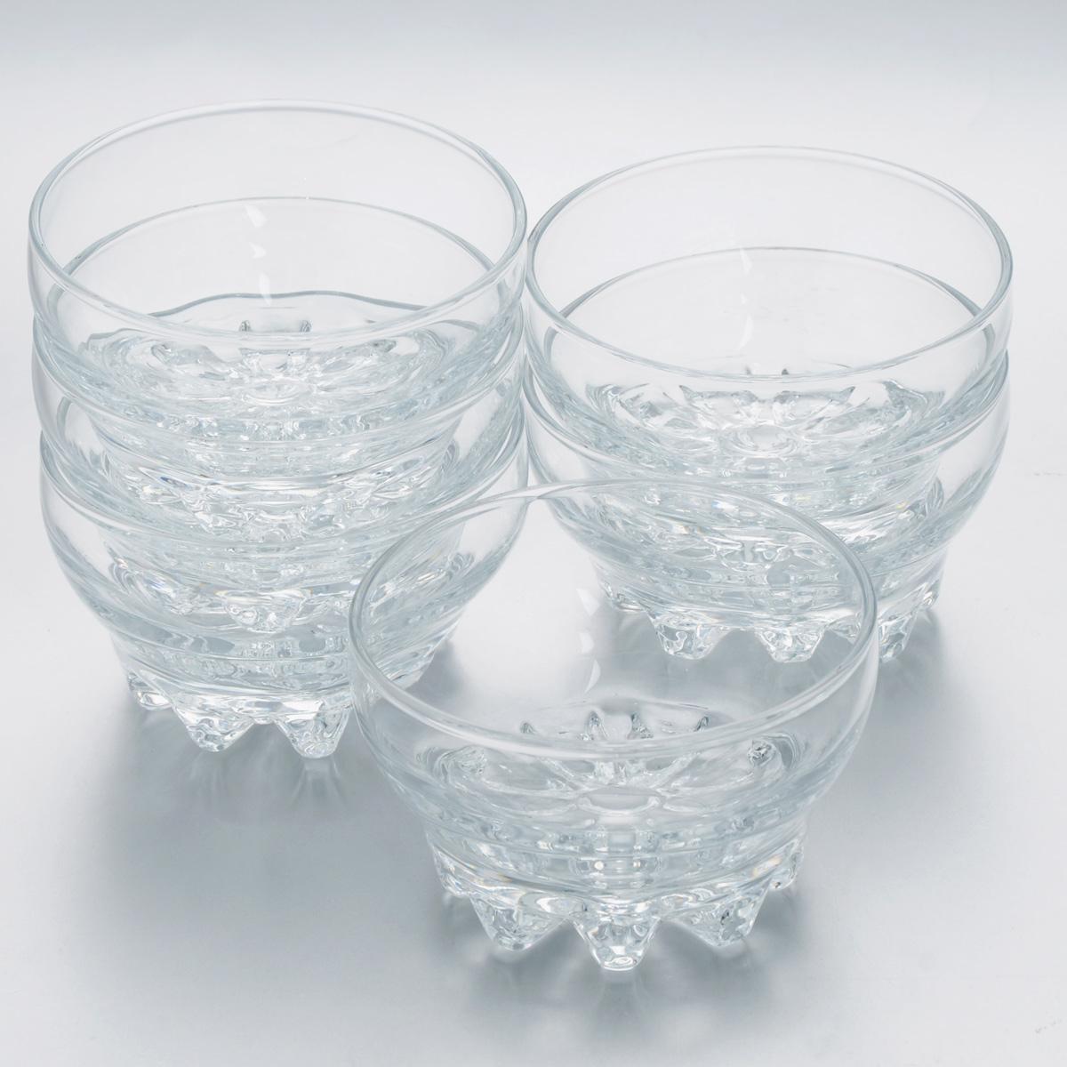 Набор салатников Pasabahce Sylvana, диаметр 10,2 см, 6 шт43258BНабор Pasabahce Sylvana, выполненный из высококачественного натрий-кальций-силикатного стекла, состоит из шести салатников. Такие салатники прекрасно подходят для порционной сервировки десертов, а также варенья, различных соусов и закусок. Изящный дизайн, высокое качество и функциональность набора Pasabahce Sylvana позволят ему стать достойным дополнением к вашему кухонному инвентарю. Можно мыть в посудомоечной машине, использовать в микроволновой печи, холодильнике и морозильной камере. Диаметр салатника: 10,2 см.