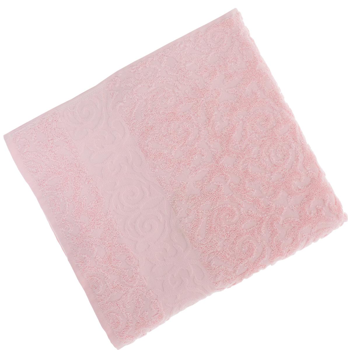 Полотенце Soavita Luxury. Квадро, цвет: розовый, 70 х 140 см51640Полотенце Soavita Luxury. Квадро выполнено из 100% хлопка. Изделие отлично впитывает влагу, быстро сохнет, сохраняет яркость цвета и не теряет форму даже после многократных стирок. Полотенце очень практично и неприхотливо в уходе. Оно создаст прекрасное настроение и украсит интерьер в ванной комнате.
