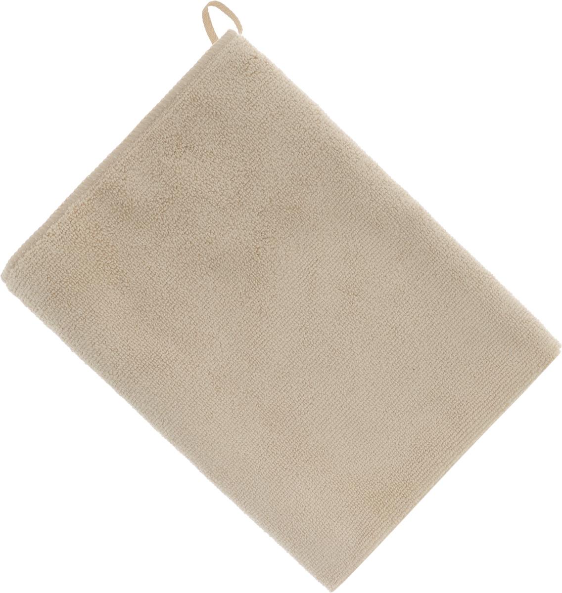 Полотенце кухонное Soavita, цвет: бежевый, 50 х 70 см63868Полотенце Soavita выполнено из микрофайбера (80% полиэстер и 20% полиамид). Изделие отлично впитывает влагу, быстро сохнет, сохраняет яркость цвета и не теряет форму даже после многократных стирок. Полотенце очень практично и неприхотливо в уходе. Оно создаст прекрасное настроение и украсит интерьер в ванной комнате.