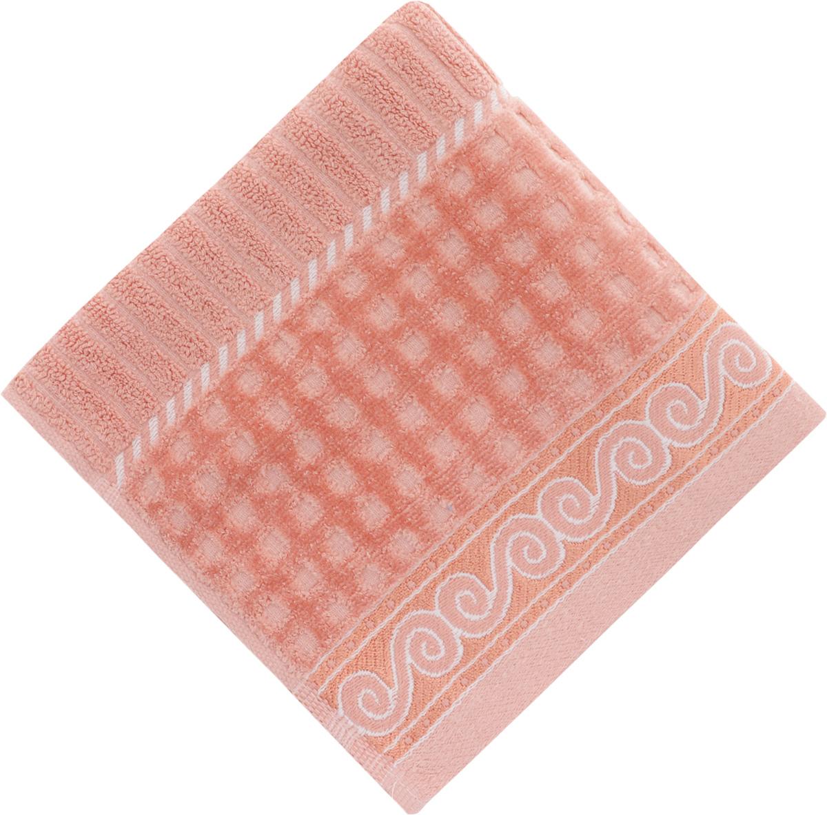 Полотенце Soavita Луи, цвет: коралловый, 50 х 90 см51799Полотенце Soavita Луи выполнено из 100% хлопка. Изделие отлично впитывает влагу, быстро сохнет, сохраняет яркость цвета и не теряет форму даже после многократных стирок. Полотенце очень практично и неприхотливо в уходе. Оно создаст прекрасное настроение и украсит интерьер в ванной комнате.