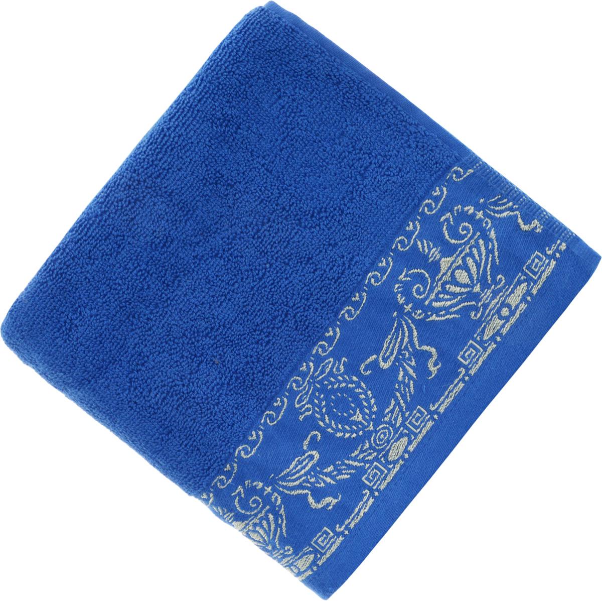 Полотенце Soavita Premium. Амфора, цвет: синий, 45 х 80 см