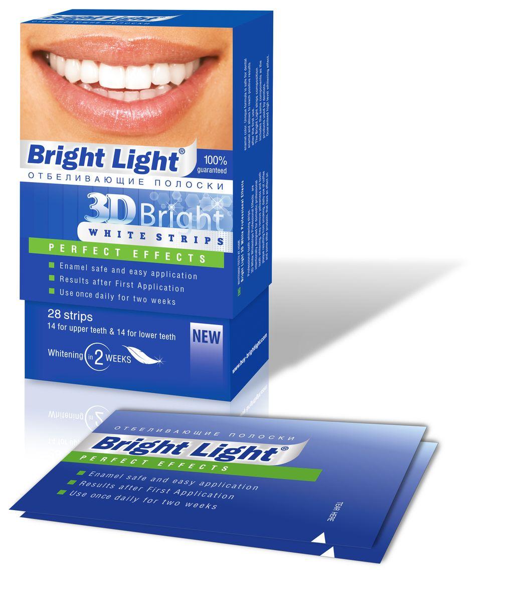 Отбеливающие полоски для зубов Bright Light 3D Bright Perfect Effects, для чувствительных зубовPro-2Отбеливающие полоски Bright Light 3D Bright PERFECT EFFECTS -для отбеливания зубов с повышенной чувствительностью в домашних условиях, удаляют желтизну и зубной налет, образующийся от курения, частого употребления кофе и других продуктов, влияющих на цвет эмали. Эффект высокого уровня отбеливания гарантирован! Bright Light идеально точно повторяют уникальную форму ваших зубов, обеспечивая надёжный контакт отбеливающего состава с их поверхностью. Отбеливающие полоки Bright Light эффективно работают над белоснежностью вашей улыбки. Гель воздействует на эмаль очень бережно и деликатно. Постепенно исчезают серый и желтый налет, пятна, зубы обретают здоровую белизну.