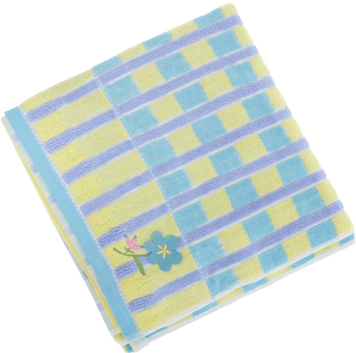 Полотенце Soavita Premium. Linda, цвет: голубой, желтый, фиолетовый, 70 х 140 см62935Полотенце Soavita Premium. Linda выполнено из 100% хлопка. Изделие отлично впитывает влагу, быстро сохнет, сохраняет яркость цвета и не теряет форму даже после многократных стирок. Полотенце очень практично и неприхотливо в уходе. Оно создаст прекрасное настроение и украсит интерьер в ванной комнате.