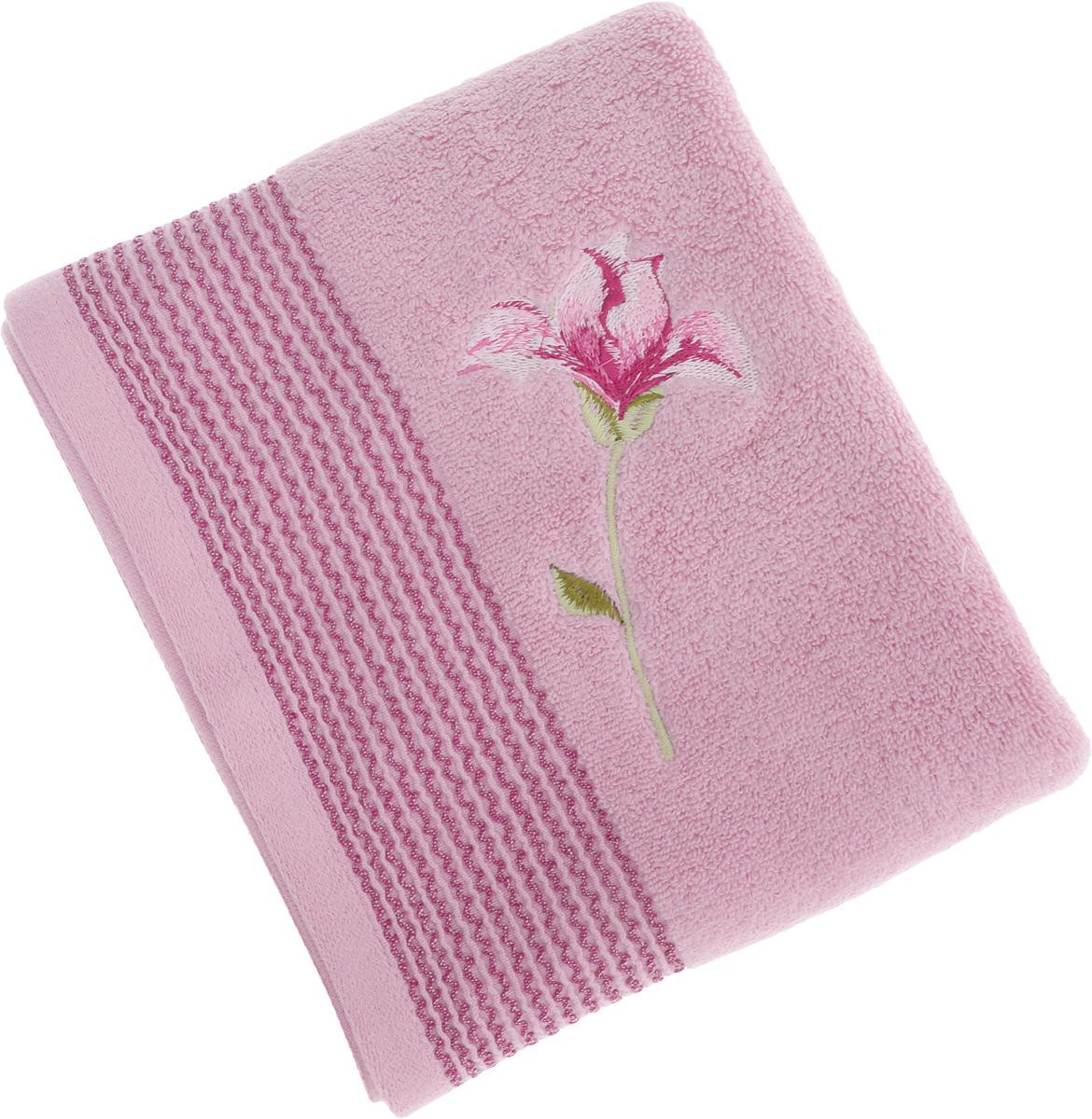 Полотенце Soavita Alice, цвет: розовый, 50 х 90 см63977Полотенце Soavita Alice выполнено из 100% хлопка. Изделие отлично впитывает влагу, быстро сохнет, сохраняет яркость цвета и не теряет форму даже после многократных стирок. Полотенце очень практично и неприхотливо в уходе. Оно создаст прекрасное настроение и украсит интерьер в ванной комнате.