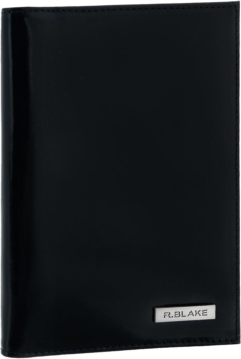 Обложка для паспорта мужская R.Blake Cover Gloss, цвет: черный. 5GCVR00-000000-A0601O-K101GCVR00-000000-A0601O-K101Стильная обложка для паспорта R.Blake Cover Gloss изготовлена из натуральной гладкой кожи. Лицевая сторона изделия оформлена небольшой металлической пластиной с гравировкой в виде названия бренда. Внутри на одной из боковых сторон предусмотрены четыре кармашка для кредитных карт или визиток. Изделие поставляется в фирменной упаковке. Обложка для паспорта поможет сохранить внешний вид ваших документов и защитить их от повреждений, а также станет стильным аксессуаром.