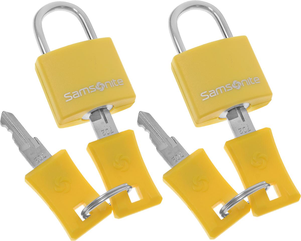 "Замок багажный ""Samsonite"", цвет: желтый, 2 шт U23-06112"