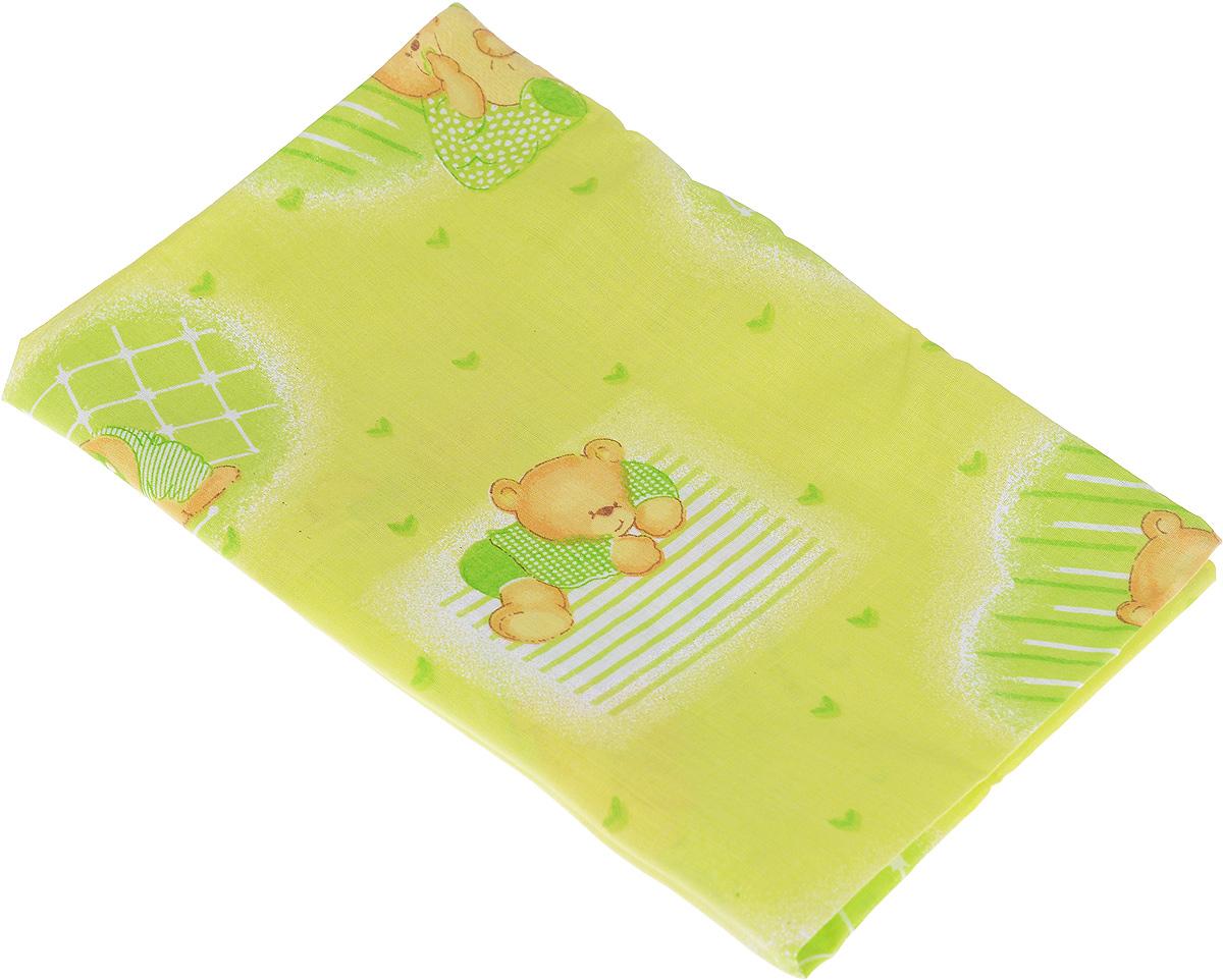 Фея Наволочка детская Мишка-акробат 40 см х 60 см ( 0001056-4_салатовый )