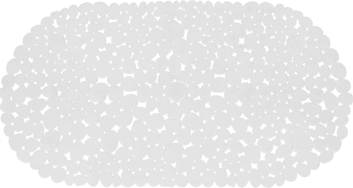 Коврик для ванной комнаты Proffi Камешки, противоскользящий, цвет: белый, 70 х 38 смPH3527Коврик Proffi Камешки, изготовленный из ПВХ, предназначен для использования в ванной комнате и душевой кабине против скольжения. Коврик крепится на дно ванны с помощью небольших вакуумных присосок. Благодаря рельефной поверхности, коврик предотвращает скольжение и исключает возможность падения в ванне.