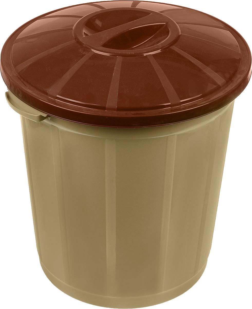 Ведро мусорное Dunya Plastik, цвет: бежевый, коричневый, 35 л2002_бежевый, коричневыйМусорное ведро Dunya Plastik изготовлено из прочного пластика. Оно оснащено крышкой и ручками для переноски. Ведро компактное, практичное и функциональное. Идеальный вариант для любых помещений: ванны, кухни, туалета, гаража и других.