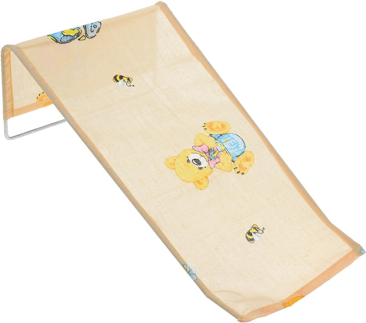 Фея Подставка для купания Мишка с медом1332-01_бежевый медПодставка для купания Фея Мишка с медом - это удобный способ мытья и прекрасная возможность побаловать вашего малыша. Эргономичный дизайн подставки разработан специально для комфорта и безопасности вашего ребенка. Основу подставки составляет металлический каркас, обтянутый тканью. Подарите своему малышу радость и комфорт во время купания! Подставка предназначена для купания детей в возрасте до 1 года. Фея - это качественные и надежные товары для малышей, которые может позволить себе каждая семья! Правила ухода за чехлом: после использования хорошо просушить. Запрещается использование моющих средств, содержащих щелочь.