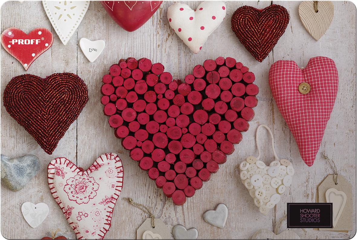 Proff Настольное покрытие Hearts 43 х 29 см ( HS16-DPL )