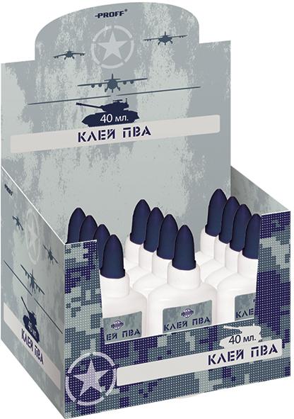 Proff Клей для бумаги и картона ПВА Military 40 г