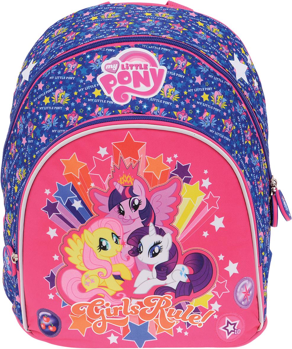 Proff Рюкзак дошкольный Girls Rule!LP16-BPM-03Дошкольный рюкзак Proff Girls Rule! - это красивый и удобный рюкзак, который подойдет всем юным принцессам, кто хочет разнообразить свои будни. Внешние поверхности и подкладка рюкзака выполнены из полиэстера, уплотнители - из поролона, элементы отделки - из пластика, металла, ПВХ. Рюкзак имеет одно основное отделение на застежке-молнии с двумя бегунками. Бегунки дополнены удобными держателями с изображением пони. На лицевой стороне расположен накладной карман на молнии. Изделие оснащено удобной текстильной ручкой для переноски. Широкие лямки рюкзака можно регулировать по длине. Светоотражающие элементы обеспечивают безопасность в местах движения автомобилей и помогут пересечь проезжую часть в сумерки или темное время суток. Многофункциональный детский рюкзак станет незаменимым спутником для вашего ребенка.