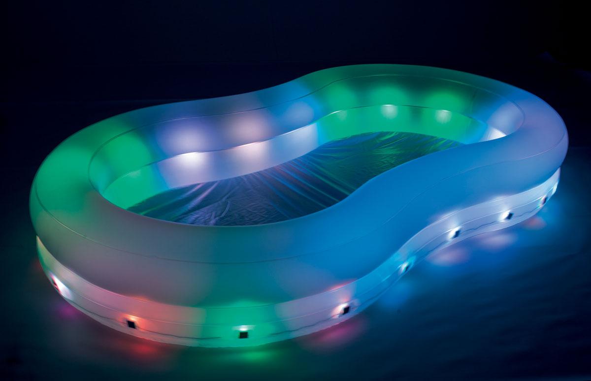 Бассейн надувной Bestway, с подсветкой. 54135
