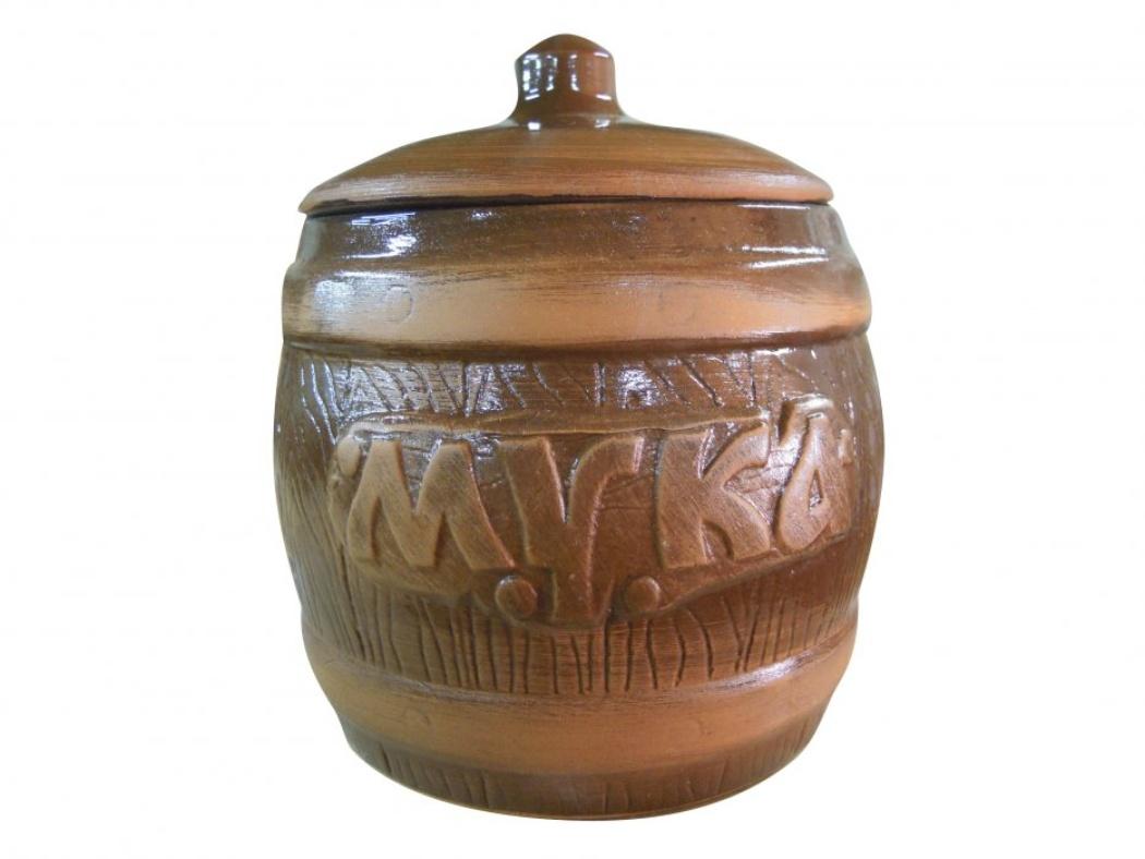 Бочонок Борисовская керамика Мука, 1200 млСТР00000309Удобный бочонок для компактного размещения на вашей кухне. Очень оригинально смотрится в любом интерьере. Оригинальный эффект старины!