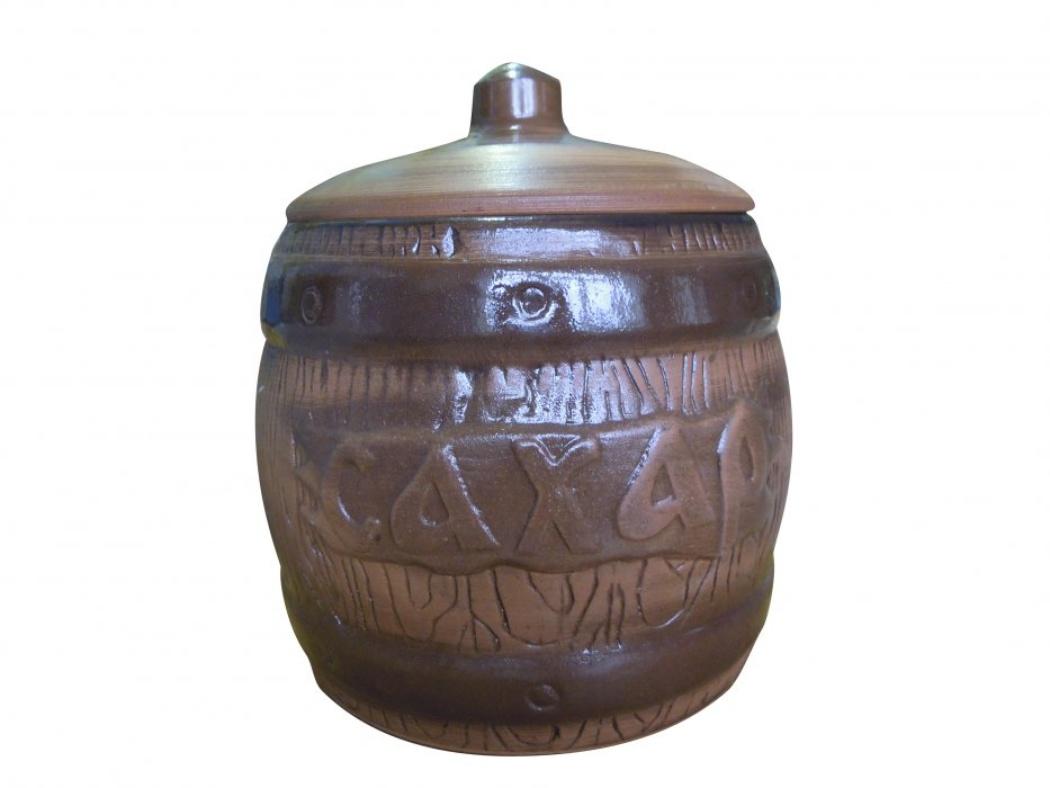 Бочонок Борисовская керамика Сахар, 1200 млСТР00000315Удобный бочонок для компактного размещения на вашей кухне. Очень оригинально смотрится в любом интерьере. Оригинальный эффект старины!