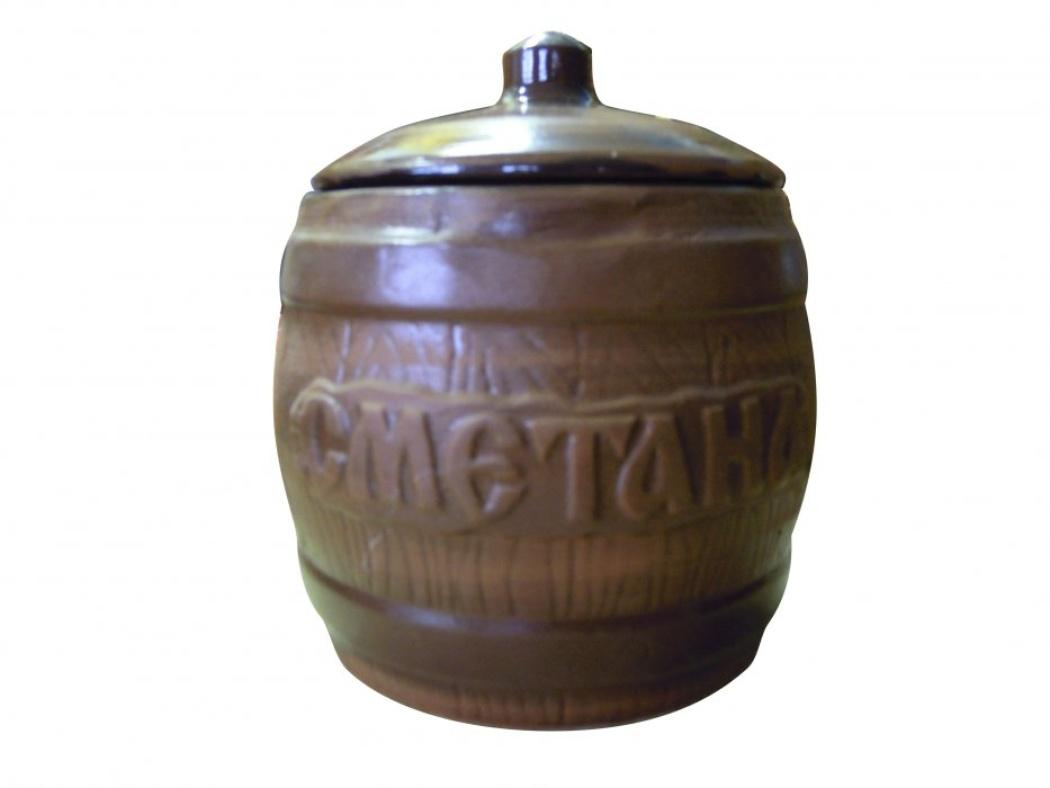 Бочонок Борисовская керамика Сметана, 1200 млСТР00000317Удобный бочонок для компактного размещения на вашей кухне. Очень оригинально смотрится в любом интерьере. Оригинальный эффект старины!