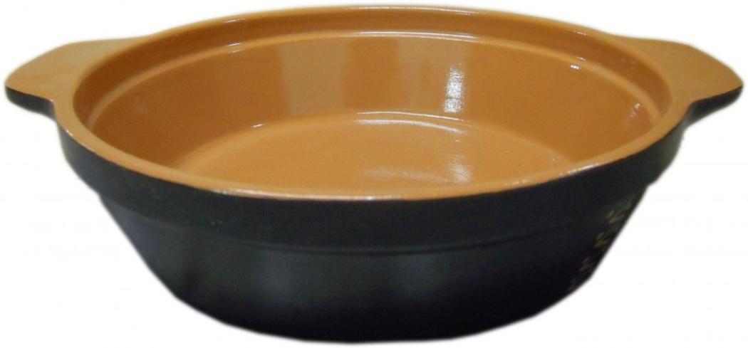 Сковорода Борисовская керамика Чугун, без крышки, 900 млЧУГ00000563Эксклюзивная разработка Борисовской керамики. Идеальный подарок хозяйке! Сочетание современной формы и традиционных свойств гончарной эко-посуды. Благодаря рельефному дну температура распределяется равномерно и содержимое сковороды не пригорает. Время приготовления пищи существенно сокращается. Из-за компактной формы экономит место на кухне. Не использовать на открытом огне!
