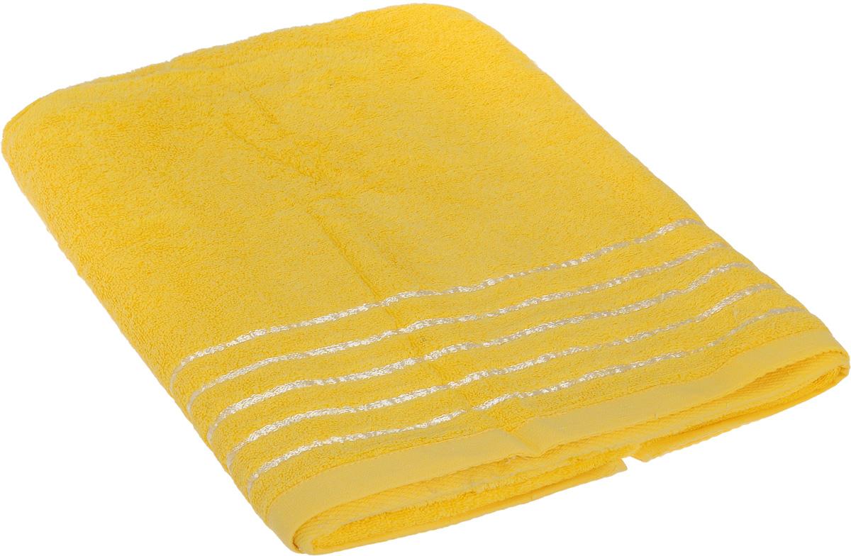 Полотенце Soavita Olivia, цвет: желтый, 70 х 140 см64011Полотенце Soavita Olivia выполнено из 100% хлопка. Изделие отлично впитывает влагу, быстро сохнет, сохраняет яркость цвета и не теряет форму даже после многократных стирок. Полотенце очень практично и неприхотливо в уходе. Оно создаст прекрасное настроение и украсит интерьер в ванной комнате.
