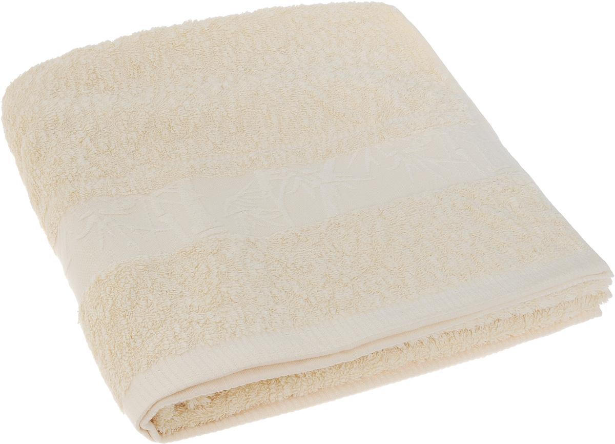 Полотенце Soavita Chloe, цвет: кремовый, 130 х 70 см64163Полотенце Soavita Chloe выполнено из 100% бамбукового волокна. Изделие отлично впитывает влагу, быстро сохнет, сохраняет яркость цвета и не теряет форму даже после многократных стирок. Полотенце очень практично и неприхотливо в уходе. Оно создаст прекрасное настроение и украсит интерьер в ванной комнате.